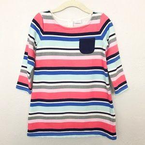 Gymboree Striped Long Sleeve Dress Sz 3T